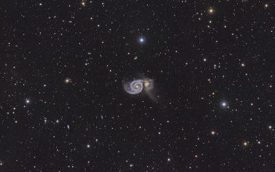 The Whirlpool Galaxy, M51 – super wide field