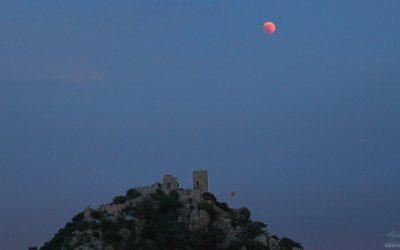 Moon eclipse captured from Castell de Burriac, Cabrera de Mar 2018