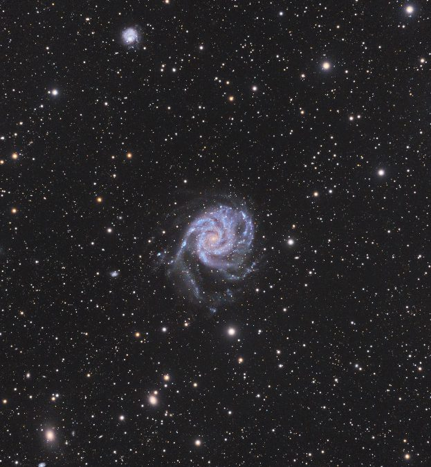 A 101h imaging of M101 with a small telescope