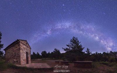 Milky Way over Mirador astronòmic de Sant Roc, Prades