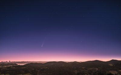 Comet C/2020 F3 Neowise over Muntanyes de Prades