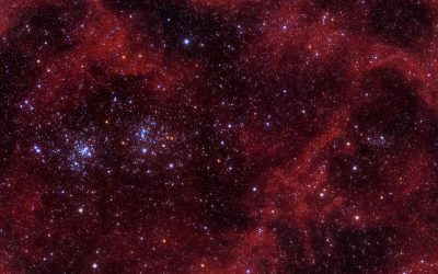 Galactic Cirri across the Double Star Cluster in Perseus