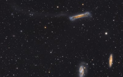 Leo Triplet with tidal tail
