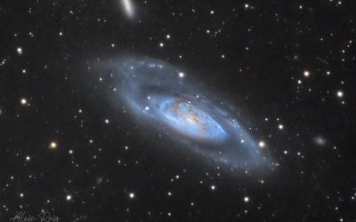 M106 wide field of galaxies with IFN