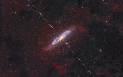 Clouds of Andromeda as a bull's-eye