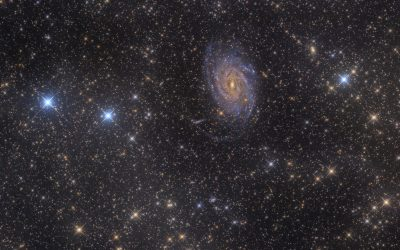 NGC 6744 spiral galaxy surrounded by IFN